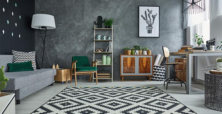 patterned interior decor