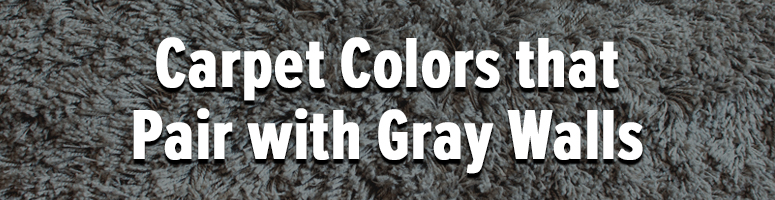 what color carpet with grey walls and white trim