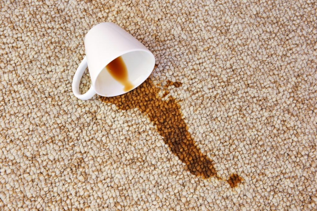 how to clean coffee stains