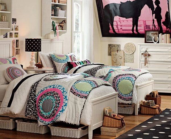 teen girls bedroom with us floors coretec plus enhanced vinyl flooring