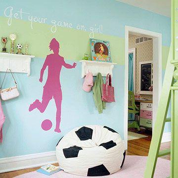 teen girls soccer bedroom with mohawks revwood plus laminate floor in sandbank oak