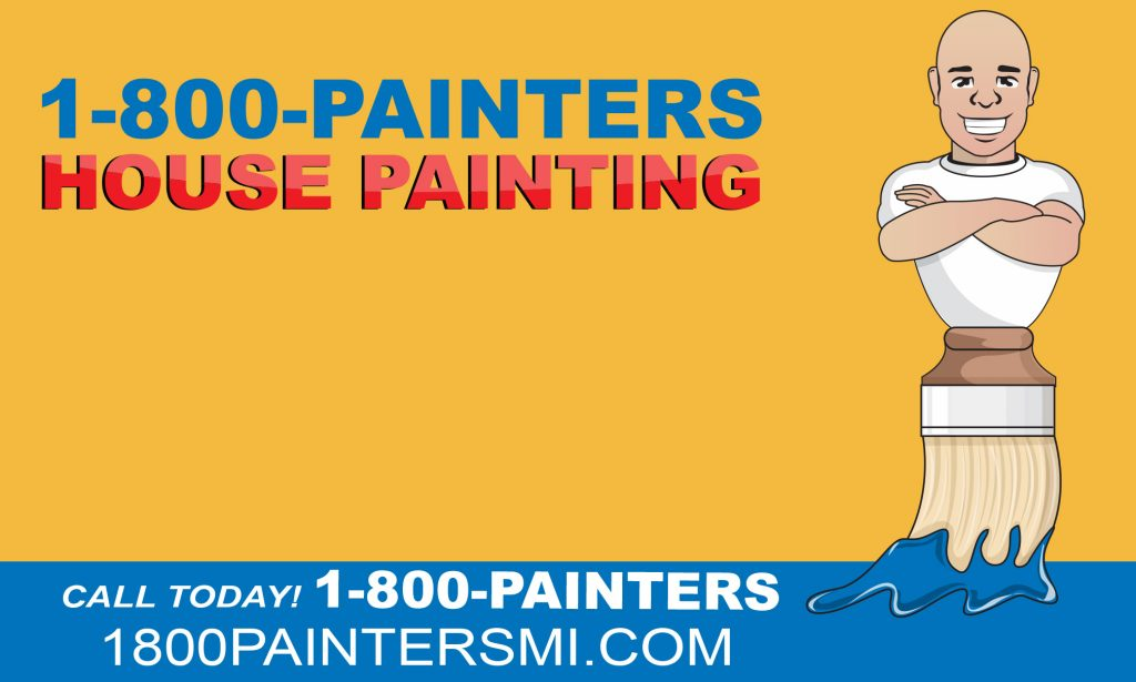 1-800-painters logo and website info for after new floors