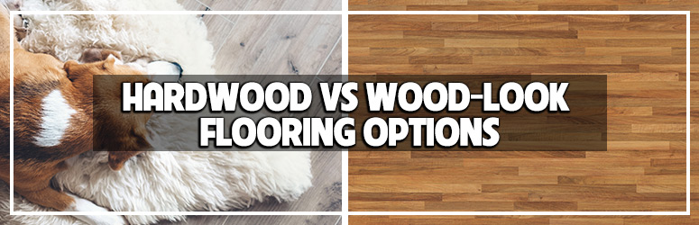 hardwood vs wood look flooring options blog banner