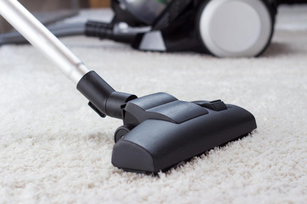 vacuum clean up on carpet