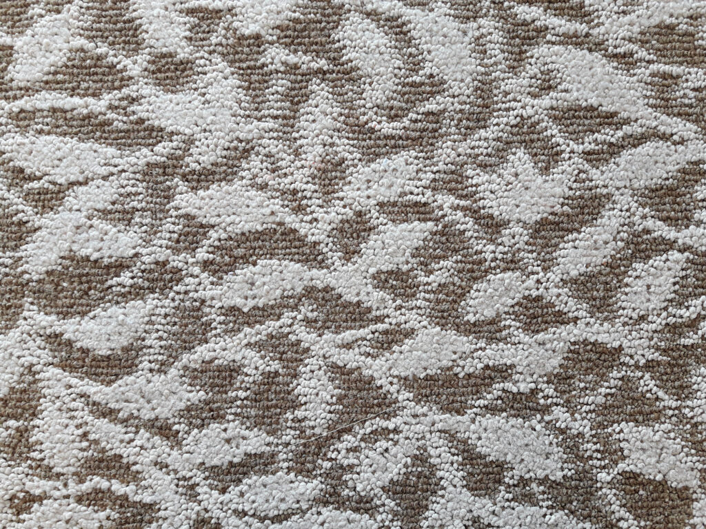 Textured carpet with a pattern