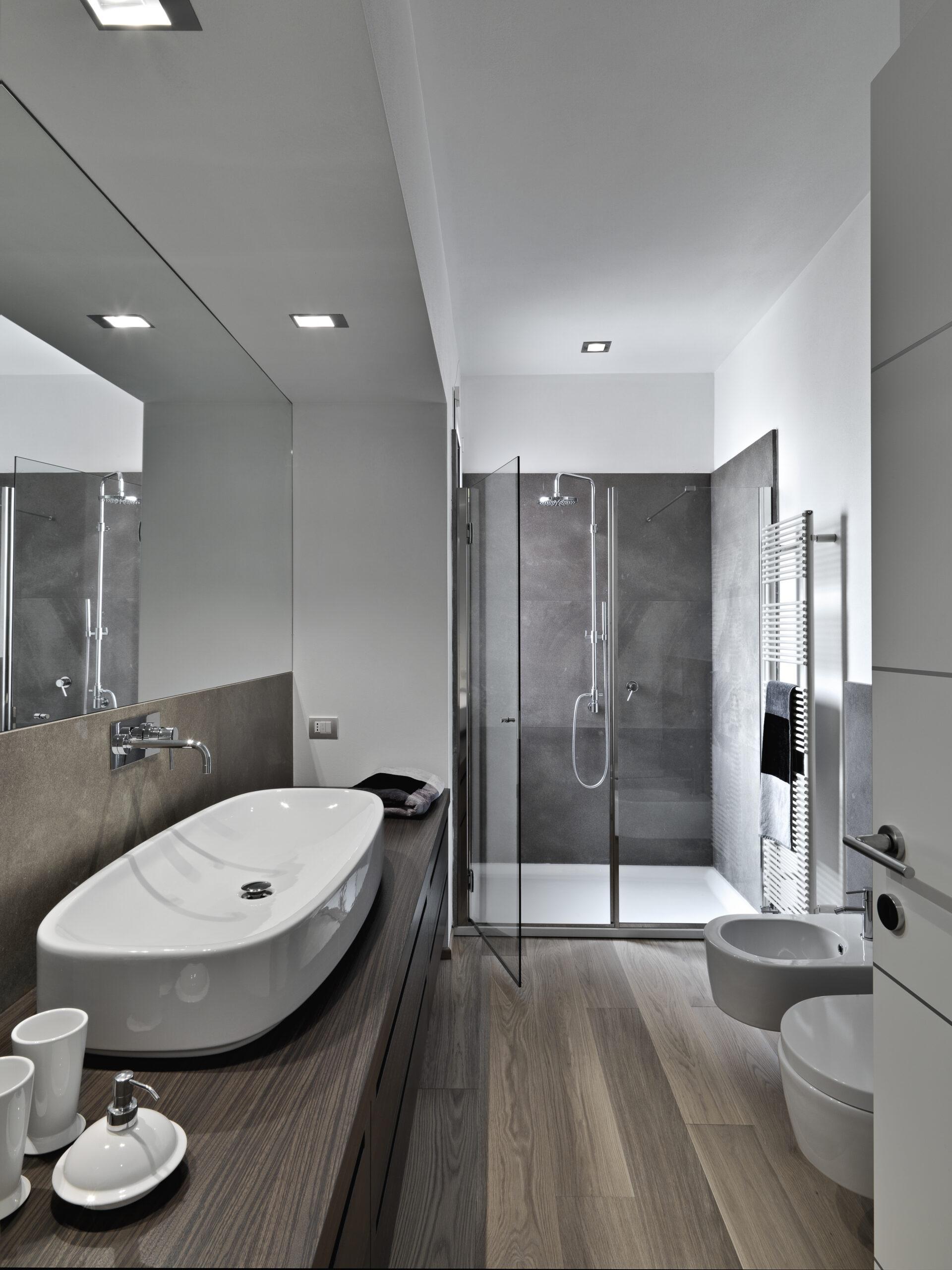 bathroom with lvp flooring