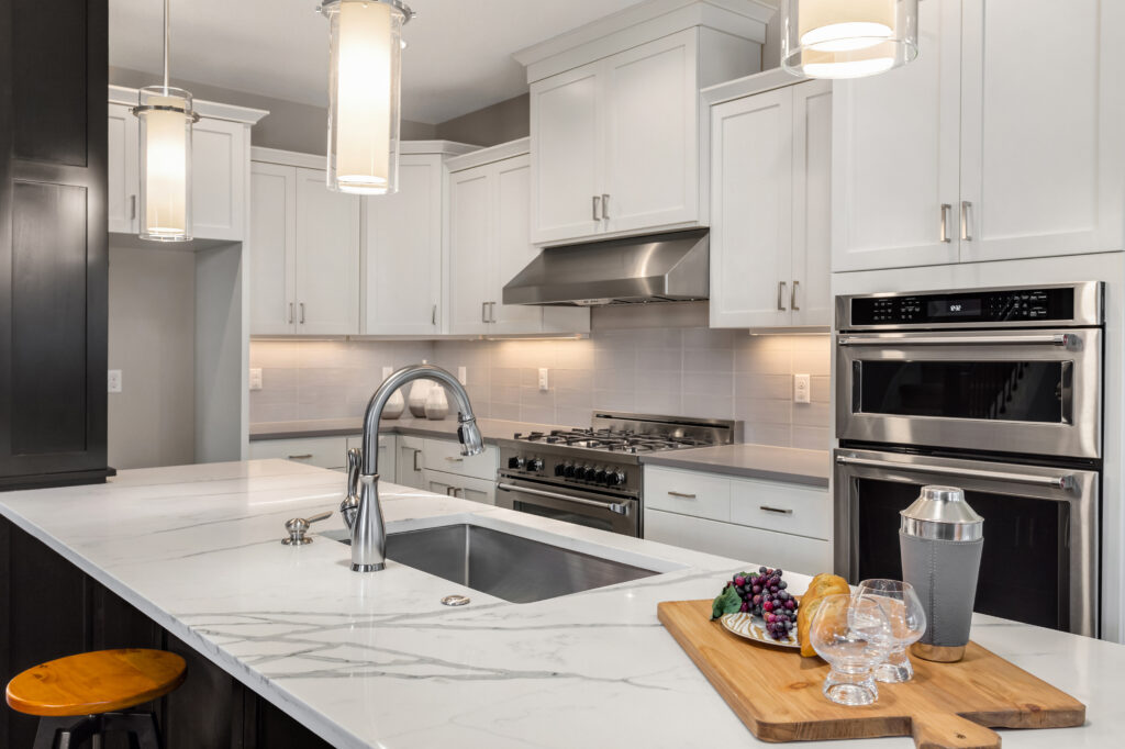 kitchen with updated appliances and fixtures