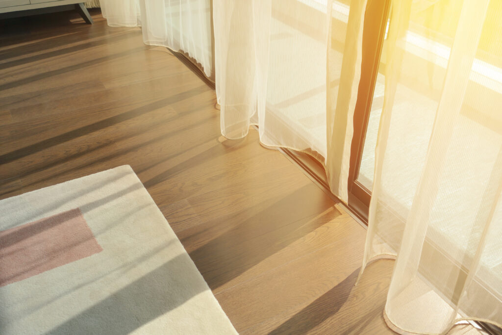 light and shadows change color of flooring