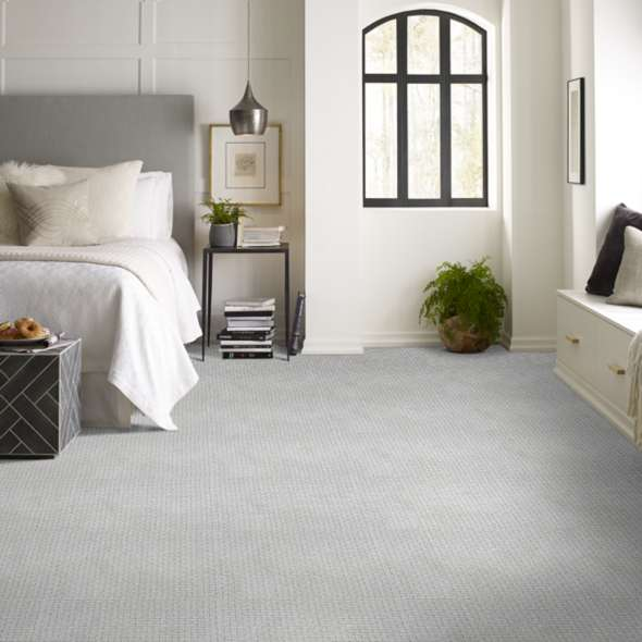 carpet with pattern in bedroom